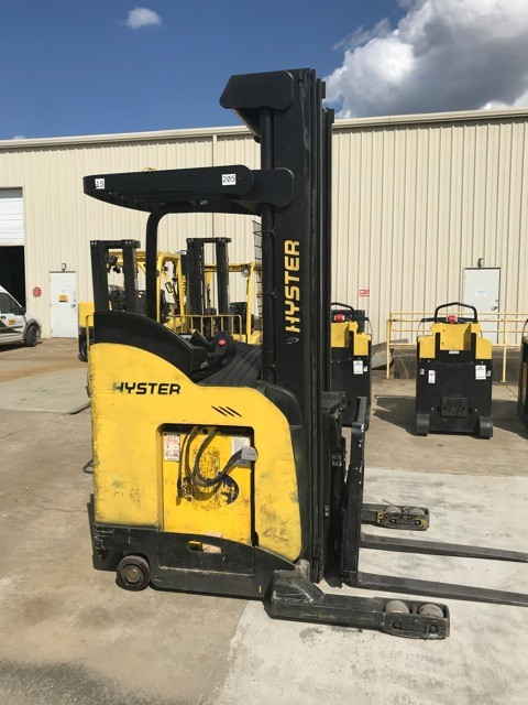 Hyster Forklifts N45ZR2 Electric Stand Up Rider 4500lb Reach Forklift 2013