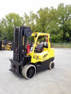 Hyster Forklifts S155FT 7.5 Ton 15,500lb Solid/Cushion Tire Warehouse Propane Forklift 2014