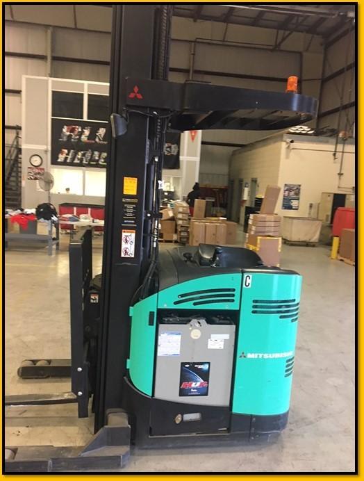 Mitsubishi Forklifts ESR23 Electric Stand Up Rider 4500lb Narrow Aisle Reach Forklift 2008