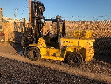 Hyster Forklifts H155XL2 Solid Pneumatic Tire 15,500lb 7.5 Ton Propane Engine Outdoor Forklift 2007