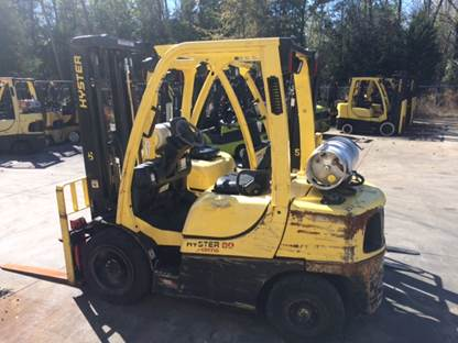 Hyster Forklifts H60FT Propane Fuel Pneumatic Tire 6000lb Forklift 2013