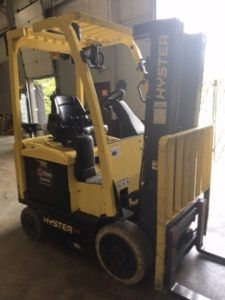 Hyster Forklifts E50XN Electric Sit Down Rider 4 Wheel 5000lb Warehouse Forklift 2012