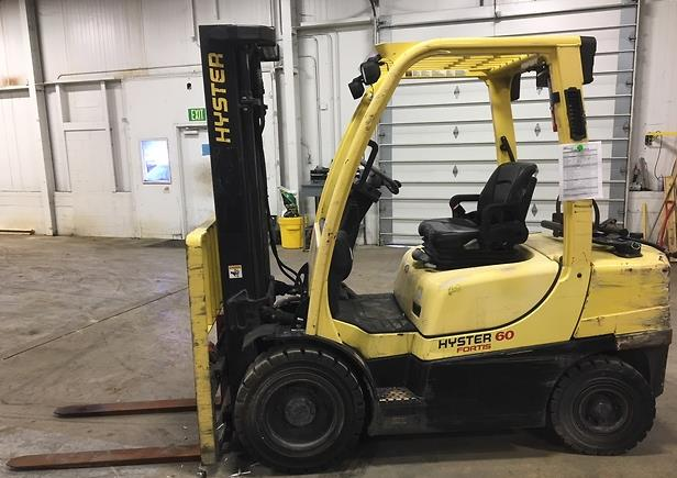 Hyster Forklifts H60FT Pneumatic Tire 6000lb Propane Forklift 2013