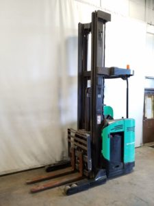 Mitsubishi Forklifts ESR20N-36V Electric Stand Up Rider 4000lb Reach Forklift 2013