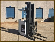 Nissan Forklifts SRX45 Electric Stand Up Rider 4500lb Narrow Aisle Reach Forklift 2014