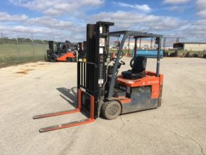 Toyota Forklifts 7FBEU20 3-Wheel Sit Down Rider 4000lb Electric Forklift 2014