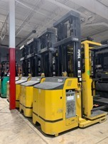 Yale Forklifts OS030BFN24TE119 Electric Stand Up Rider 3000lb Narrow Aisle Order Picker Forklift 2015