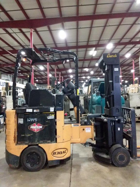 Bendi Forklifts B30/42AC Very Narrow Aisle Articulating Swing Mast 3000lb Electric Side Loading Forklift 2014