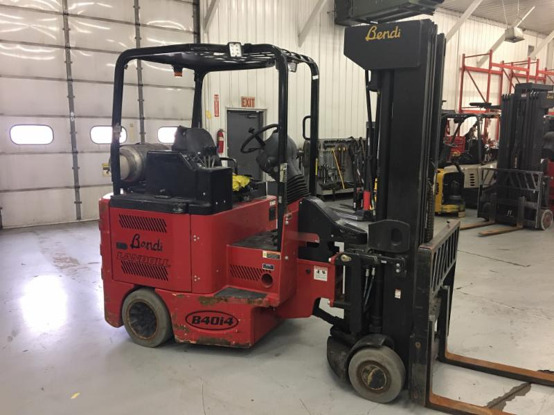 Bendi Forklifts B40/48IC Side Loading 4000lb Very Narrow Aisle Articulating Swing Mast Forklift 2015