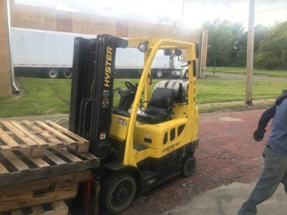 Hyster Forklifts S50FT Solid/Cushion Tire 5000lb Warehouse Style Propane Forklift 2013