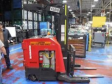 Raymond Forklifts 750R35TT Electric Stand Up Rider Narrow Aisle 3500lb Reach Forklift 2013