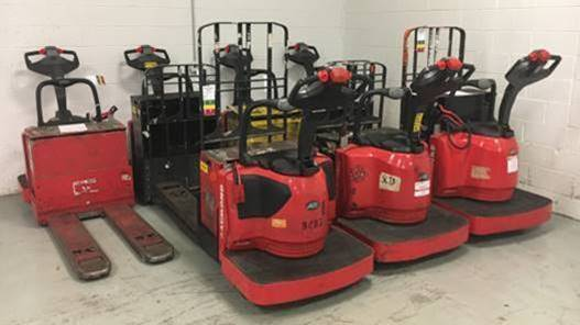 Raymond Forklifts 8410-FRE60L Electric Walkie Rider 6000lb Pallet Trucks 2013