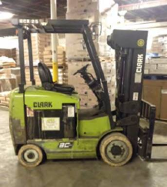Clark Forklifts ECX25 5000lb 4 Wheel Sit Down Rider Electric Warehouse Forklift 2014