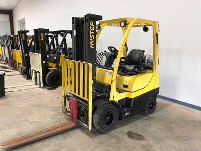 Hyster Forklifts H40FTS Pneumatic Tire 4000lb Propane Fuel Outdoor Forklift 2014