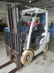 Nissan Forklifts MP1A1A18DV Pneumatic Non Marking Tires Gasoline and Propane 3500lb Forklift 2013