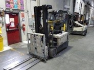 Crown Forklifts SC5240-35 Electric Narrow Aisle 3-Wheel Sit Down Rider Forklift 2011