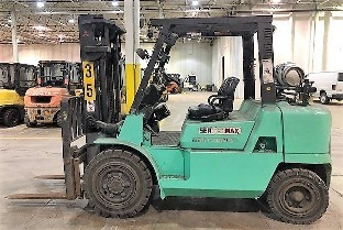 Mitsubishi Forklifts FG40K 8000lb Pneumatic Tire Propane Fuel Outdoor Forklift 2009