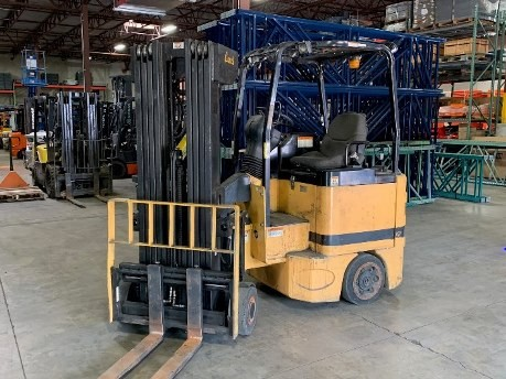 Bendi B30E/42-180D sit down rider electric very narrow aisle articulating side loading 3000lb warehouse forklift.