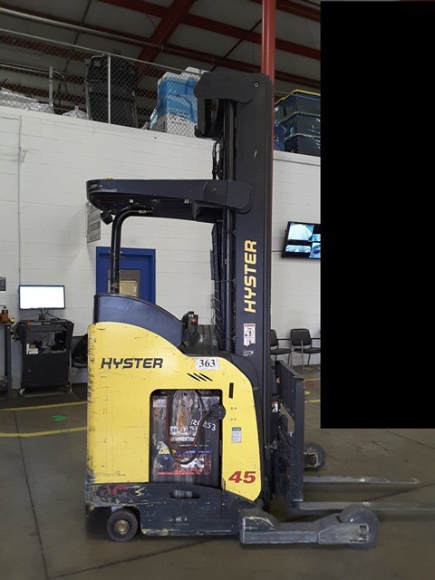 Hyster N45ZR2 electric narrow aisle 4500lb stand up rider reach truck