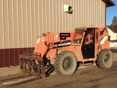 Skytrak 8042 Telehandler 8000lb capacity, diesel fuel, rough terrain unit that has a 42′ telescopic boom