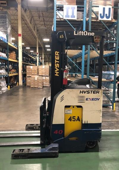 Hyster N40ZRS2 electric stand up rider narrow aisle 4000lb single reach forklift