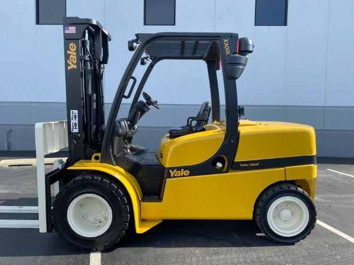 Yale GDP100VXN pneumatic tire diesel fuel 10,000lb 5 ton outdoor forklift