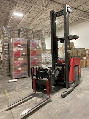 Raymond 740DR32TT electric stand up rider narrow aisle 3200lb double reach forklift