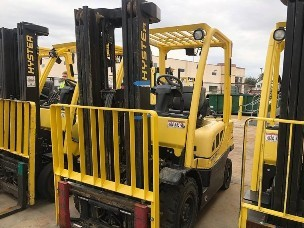 Hyster H50FT 5000lb propane fuel pneumatic tire forklifts