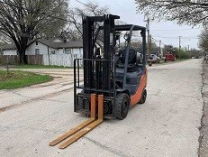 2012 Toyota 8FGU18 3500lb pneumatic tire propane fuel outdoor forklift.