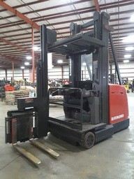 Raymond 960-CSR30T electric man up very narrow aisle articulating swing reach forklifts.