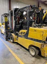 Yale GLC120VX 12,000lb 6 ton cushion solid tire propane fuel indoor warehouse forklift.